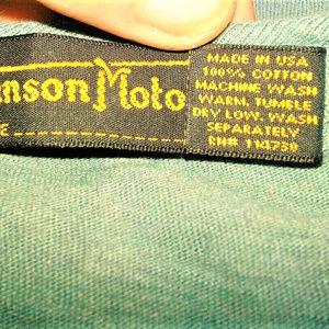 Johnson Motors Tops - JOHNSON MOTORS INC. GRAPHIC TEE SZ/M EUC